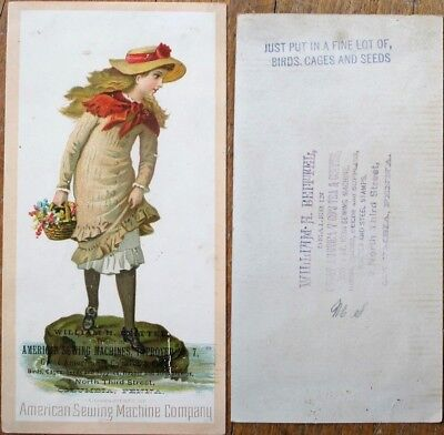 American Sewing Machine Co. 1890 Victorian Trade Card - Columbia, PA Dealer