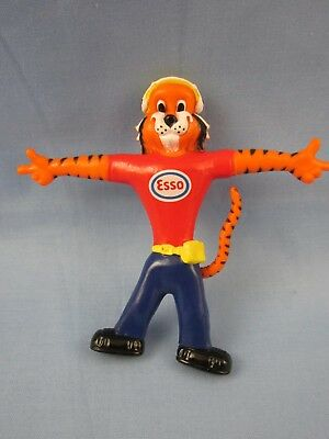 Vintage **esso Gasoline / Gas & Oil Advertising** ~ Rubber Bendable Tiger Toy ~