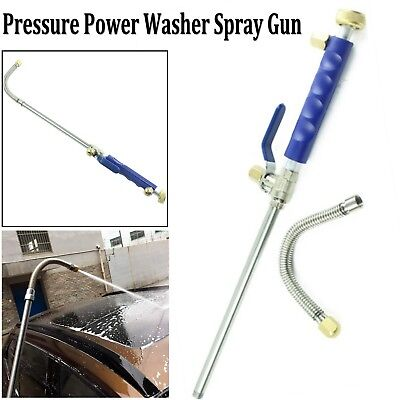 High Pressure Power Washer Water Spray Nozzle with Flexible Hose Wand Attachment