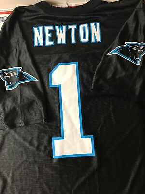 f132536f NEW WOMENS NFL Majestic Carolina Panthers Cam Newton #1 Black Jersey ...