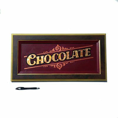 Chocolate Wall Decor hand painted, gilded sign