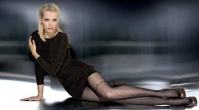 Fiore Janessa 20 Den Pantyhose Tights Hosiery Nylons Size [S&L] Smokey & Black