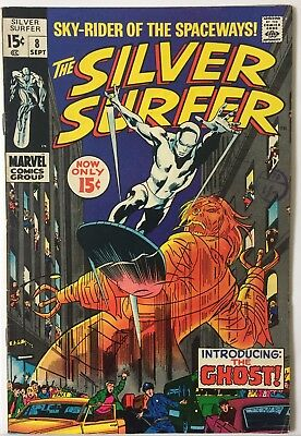 Silver Surfer (Vol. 1) # 8  Marvel (Sept 1969) 7.5