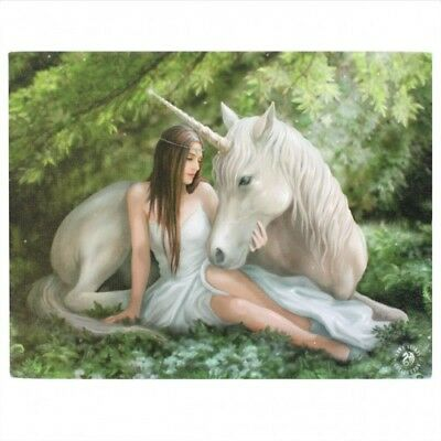 Anne Stokes Canvas Print Pure Heart 30Cm X 40Cm On Wooden Frame - New
