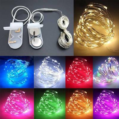 10/20/30 LED Battery Micro Rice Wire Copper Fairy String Lights Xmas Party Decor