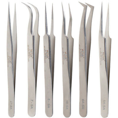 Stainless Steel False Eyelash Extension tools Tweezers Russian 3D Volume Lash
