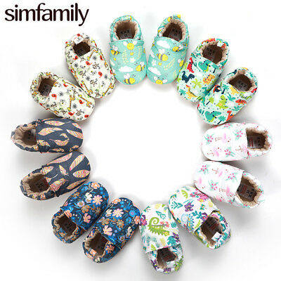 Kid Girl Boy First Walkers Soft Infant Toddler Shoes Cute Flower Soles Crib Shoe