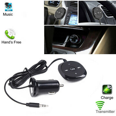 Lighter Bluetooth Player Aux Usb Receiver Adapter Cigarette Mp3 Car Kit Charger