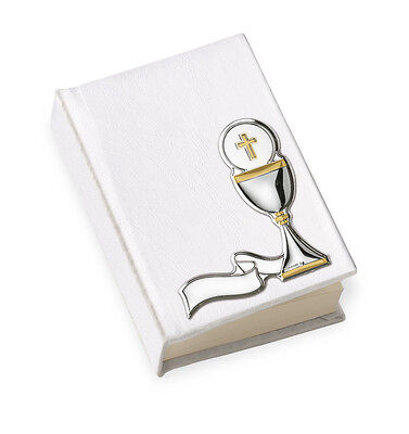 VANGELO FIRST COMMUNION CM.6x9 ECO LEATHER SHEET STEM GLASS 925 SILVER% and gold