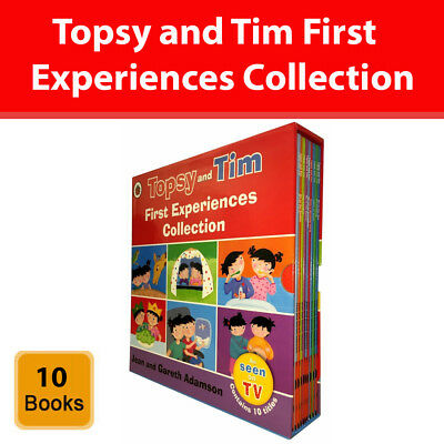 Topsy and Tim First Experiences Collection 10 Books Set Jean and Gareth Adanson
