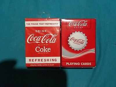 Two decks of Coca Cola Playing Cards