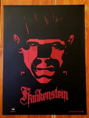 Tom Whalen Signed Universal Monsters Frankenstein Screen Print! $75 Obo!!