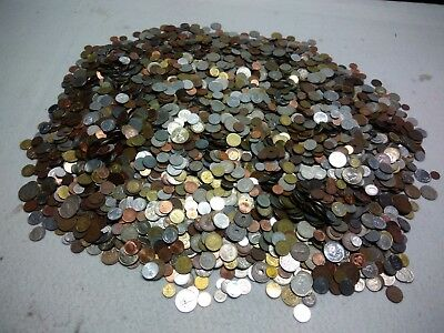 1 Kg Quilogram Lot Mixed World Coins 200-300 coins Circulated/Unc FREE SHIPPING