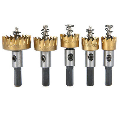 5PCS Hole Saw Tooth Kit HSS Steel Drill Bit Kit Cutter Tool For Metal Wood Alloy