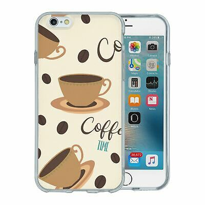 For Apple iPhone 6 6S Silicone Case Trending Coffee Time - S1111