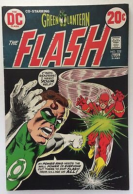The Flash #222. DC. Green Lantern. Fine