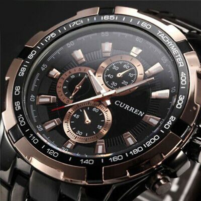 Curren Luxury Men's Sport Stainless Steel Quartz Analog Casual Wrist Watch Hot