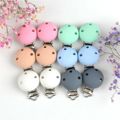 Baby Kids Dummy Pacifier Clip 3 Holes Silicone Connector Soother Nipple Holder