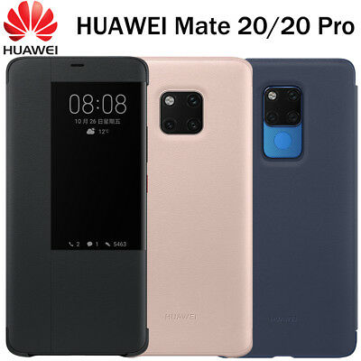 Official Huawei Mate 20 Pro Deep Blue Smart View Flip Case Cover