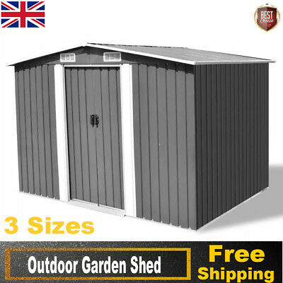 Outdoor Garden Shed Tool Toy Bike Storage Cabinet Garage House Metal Durable Hot
