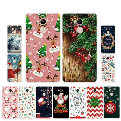 Soft TPU Silicone Case For Xiaomi Redmi 4 Pro Phone Back Covers Skins Christmas