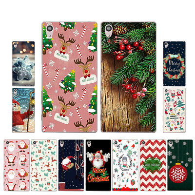 "5.2"" Soft TPU Silicone Case For Sony Xperia Z5 Phone Back Cover Skins Christmas"