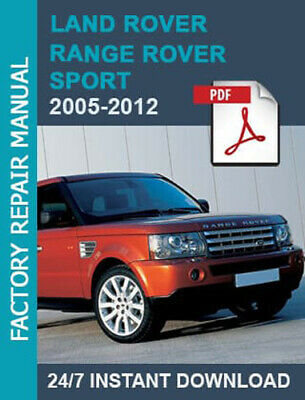 Land Rover Range Rover Sport 2005-2012 Factory Workshop Service Repair Manual