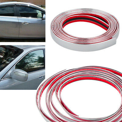 Moulding Trim Car Body Chrome Strip Bumper Protective Adhesive Sticker