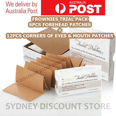 FROWNIES Wrinkle Remover Facial Patches 8 + 12 = 20 pcs. Patches NEW