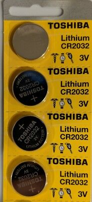 4 Pack Toshiba CR2032 2032 Lithium 3V Batteries Exp 2025 Made in Japan