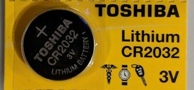 1 Single Toshiba CR2032 2032 Lithium 3V Battery Exp 2025 Made in Japan