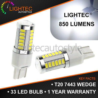 T20 33 Smd W21/5W 580 7443 Dual Filament Led Drl Sidelight Super White Bulbs Uk