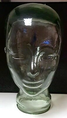 Glass human head mannequin Display Stand