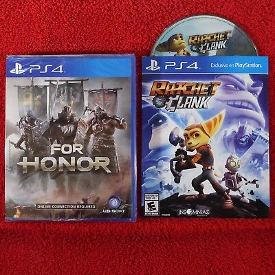 FOR HONOR & RATCHET and CLANK - PlayStation 4 PS4 ~ 2 games bundle