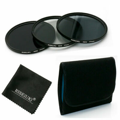 K&F Concept 67mm ND2 ND4 ND8 Filter Kit + Microfiber Cloth for Canon Nikon Sony