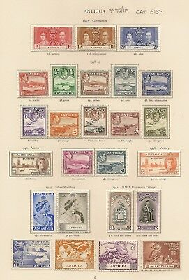Antigua 1937-51 Kgvi Complete Sg95/119 Lhm Inc 1938-51 To £1, 1948 Rsw (25)