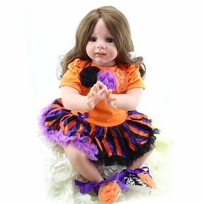 Realistic Toddler Dolls Girl Alive Vinyl Silicone Reborn Baby Accompany Kids Toy