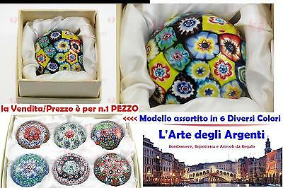 N.1 FAVOURS PAPERWEIGHT Diam.5 glass MURANO with MURRINE and 6 COLORI 40402