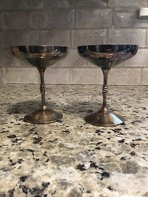 Antique Sterling Silver Plated Cups