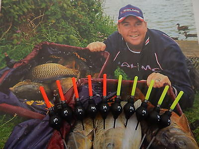 10 mf ratty margin&farbank  pole floats 5 yellow 5 red tips   0.3g