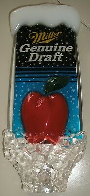 "Rare Miller Genuine Draft Promo Beer Tap Handle 8"" Big Apple Ice New York NOS"