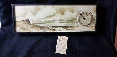 Vintage Fine Art Series Airguide Model 1101 Barometer With Weatherset Dial NOS