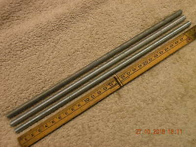 3 off M8 Studding 8mm threaded bars Stainless 300mm long M8 x 1.25 metric coarse