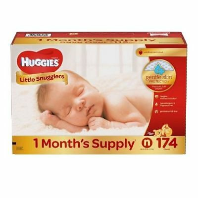 Huggies Little Snugglers Diapers, Newborn - Up to 10 lbs. (174 ct.) 312897