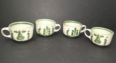 4 M A Hadley Grape & Pear Coffee Mugs