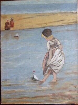 Original Dutch painting, Oil On Canvas, Signed, Inscribed And Dated Verso.