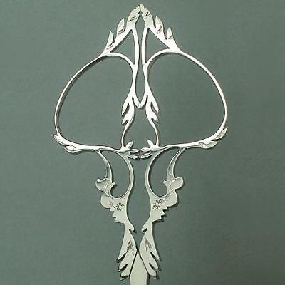 Fancy Antique Hand Filed Steel Embroidery Scissors * French * Circa 1910s