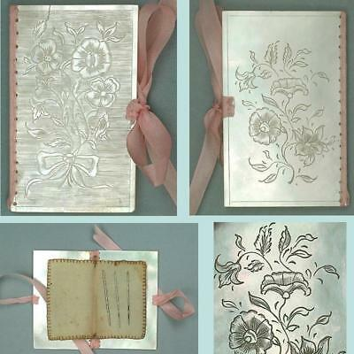 Antique Mother of Pearl Needle Book * English * Circa 1850