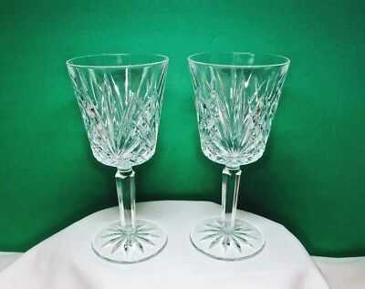 Clear Heavy Lead CRYSTAL WINE GLASS Set of 2 Bar Ware
