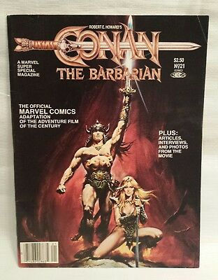 Conan the Barbarian  comics book / movies adaptation Arnold Schwarzenegger 1982